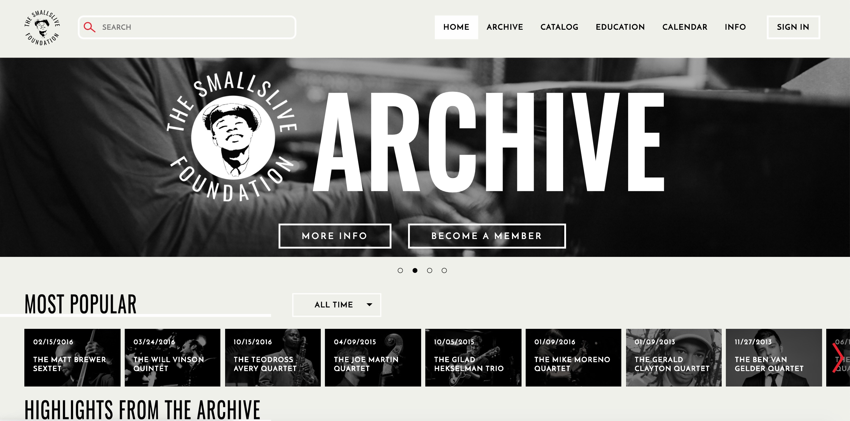 The SmallsLIVE Home Page