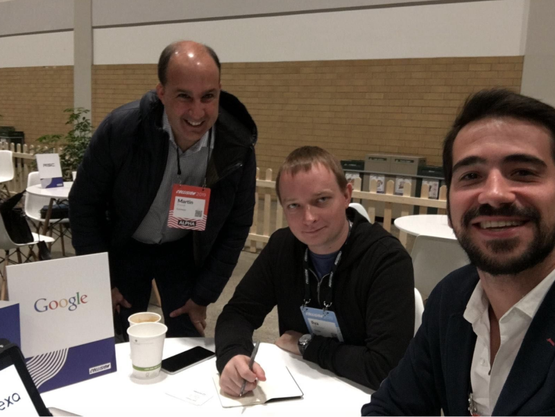 Sophilabs co-founder and CCO Martin Prunell and Business Developer Juan Franco met with Ilya Gelfenbeyn, Head of Google Assistant Investments, to discuss our enterprise voice assistant.