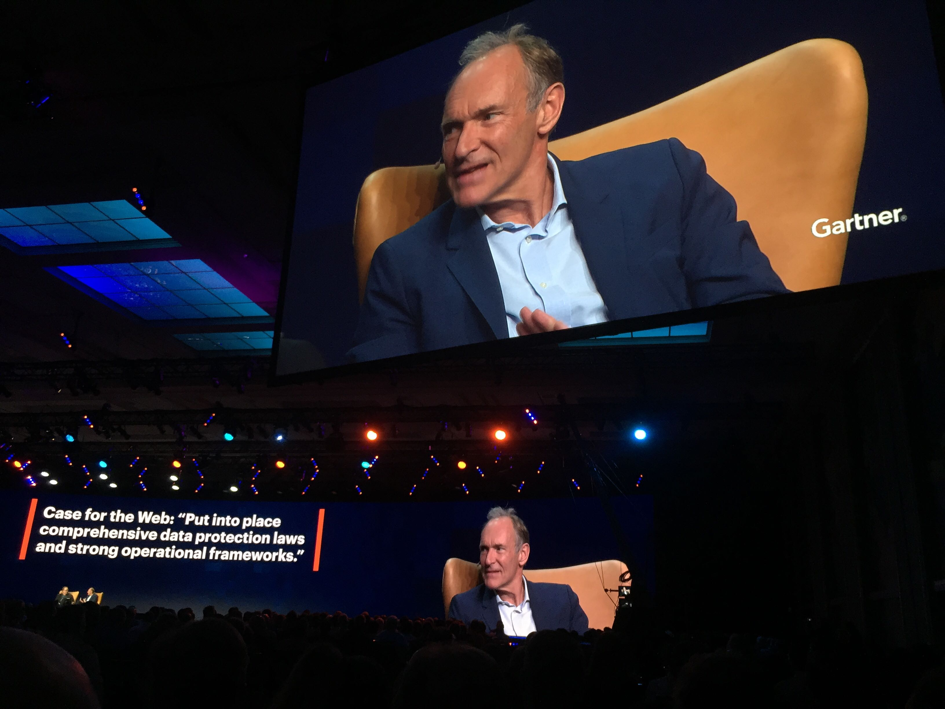 Sir Tim Berners-Lee, inventor of the World Wide Web, was a keynote speaker at the conference this year.