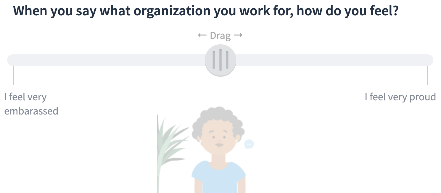A typical Officevibe pulse survey question.