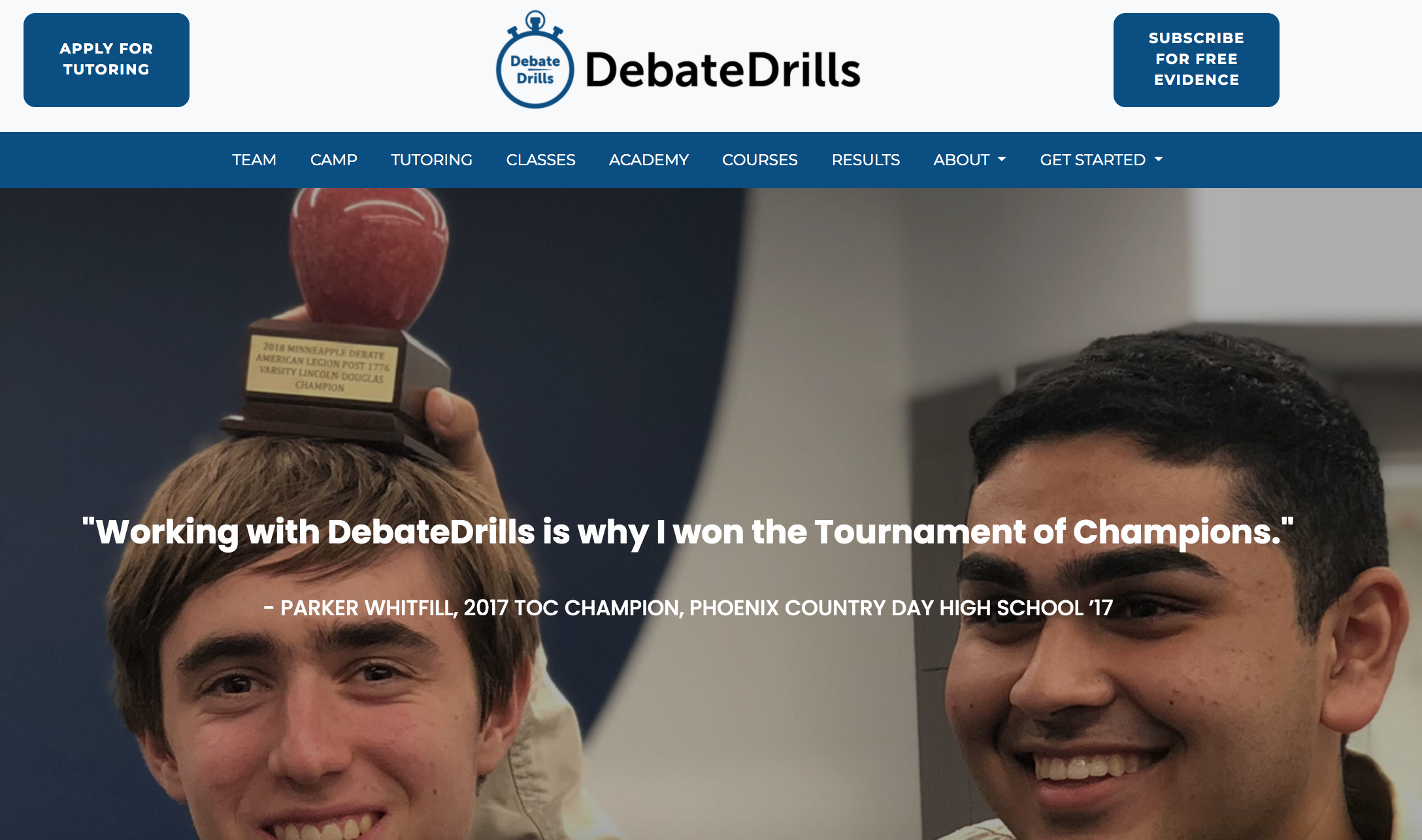The new site has helped DebateDrills attract more clients.