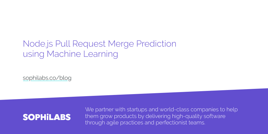 Node js Pull Request Merge Prediction using Machine Learning
