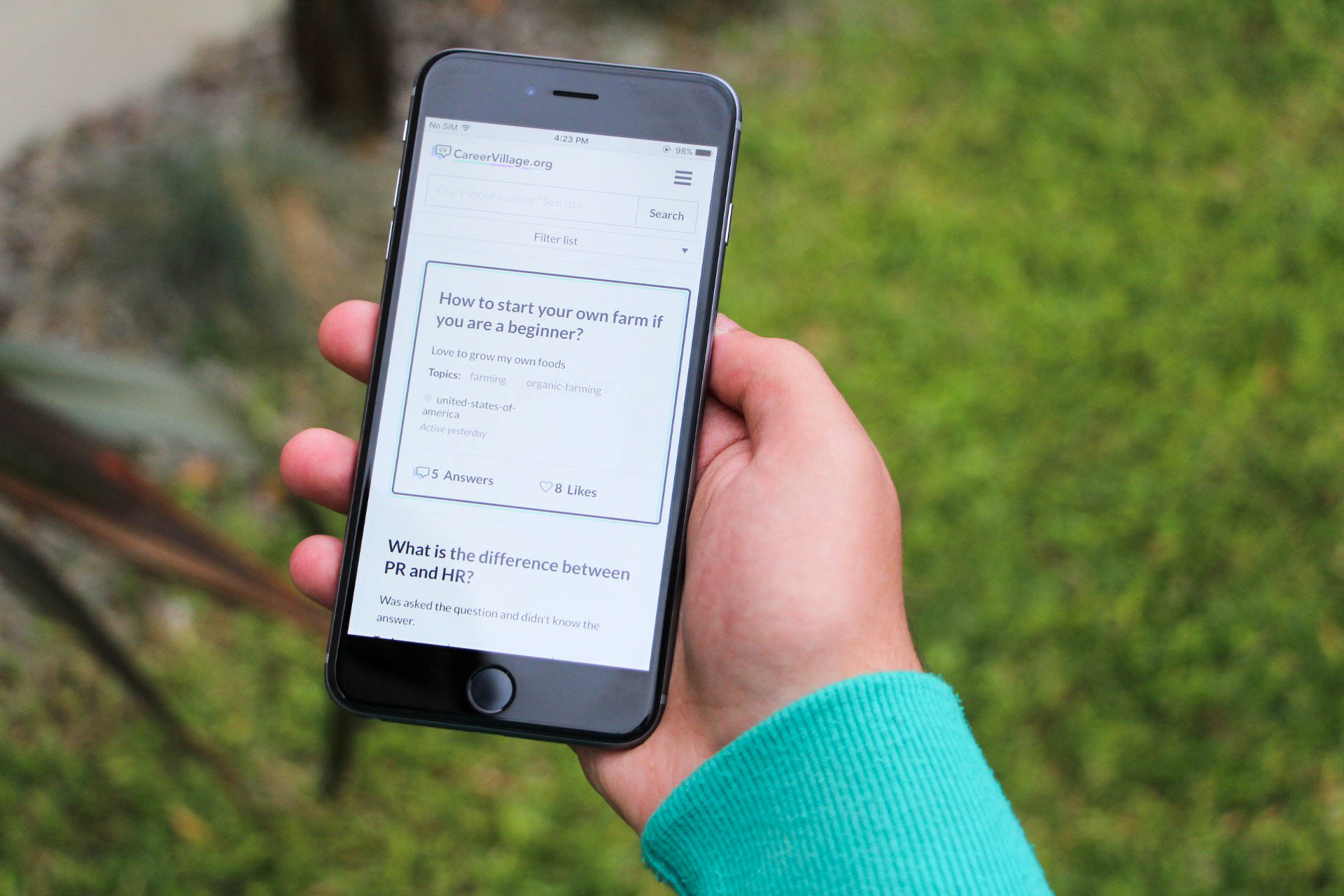 CareerVillage mobile sreenshot